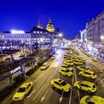 Erősítést várnak keddre a pesti taxisok