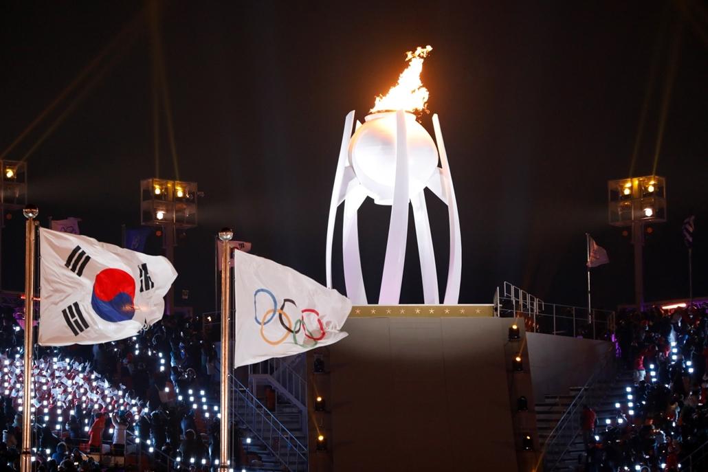afp.18.02.09. - Téli olimpia 2018 - Megnyitó Láng