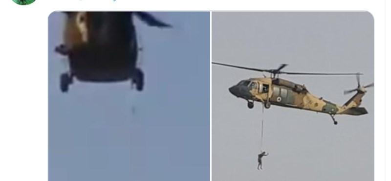 Tényleg egy Black Hawk helikopterrel akasztottak fel valakit a tálibok?
