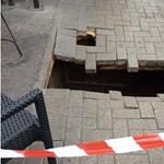 Megnyílt a föld egy nő alatt Londonban, 4 métert zuhant – fotó