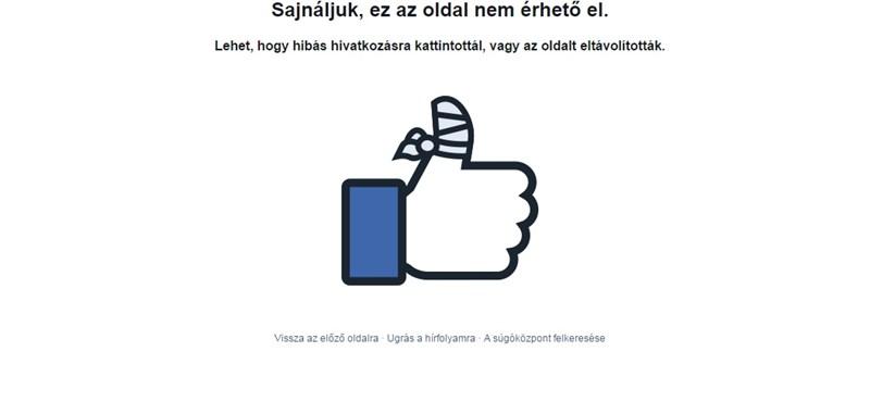 Már megint leállt a Facebook