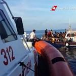 Megint rengeteg dolguk van az olaszoknak a tengeren özönlő menekültek miatt