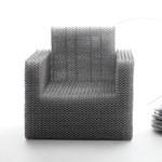 Kouichi Okamoto nem viccel: fotel alumínium drótból, kötőelemek nélkül