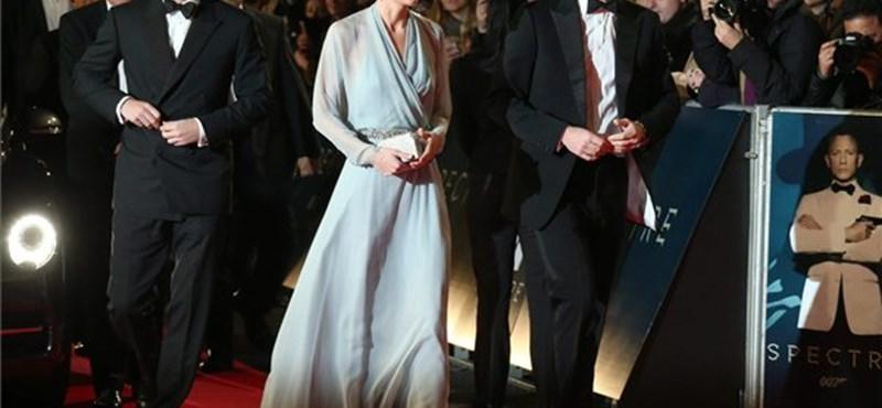 Vilmos és Katalin is ott volt a Bond-bemutatón - fotó