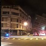 Durva földrengés Tajvanon: egy hotel megdőlt, egy másik részben összedőlt – fotó