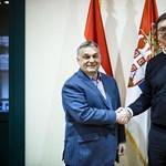 A szerb elnökkel vacsorázott Orbán Viktor