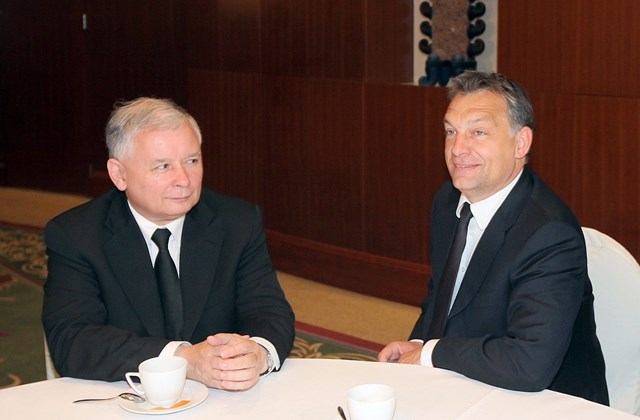 20160110003 - epa.10.06.02. - Varsó, Lengyelország: Jaroslaw Kaczynski volt lengyel kormányfő és az első hivatalos külföldi látogatásán Varsóban tartózkodó Orbán Viktor