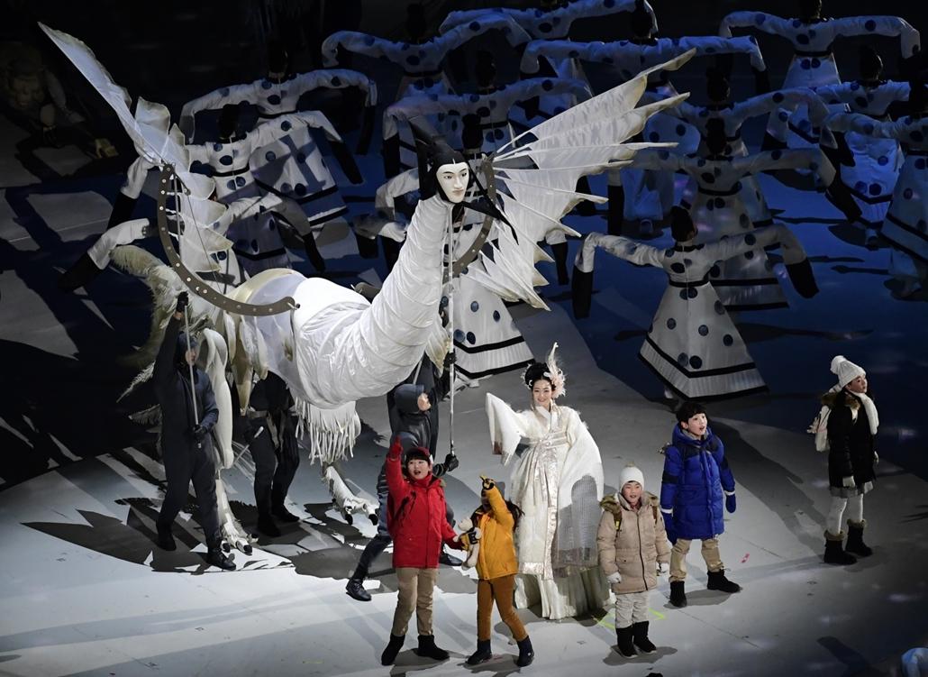 afp.18.02.09. - Téli Olimpia 2018 - Megnyitó ünnepség Phjongcshang 2018