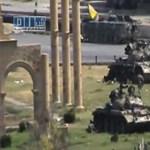 Harckocsik hatoltak be egy szíriai városba