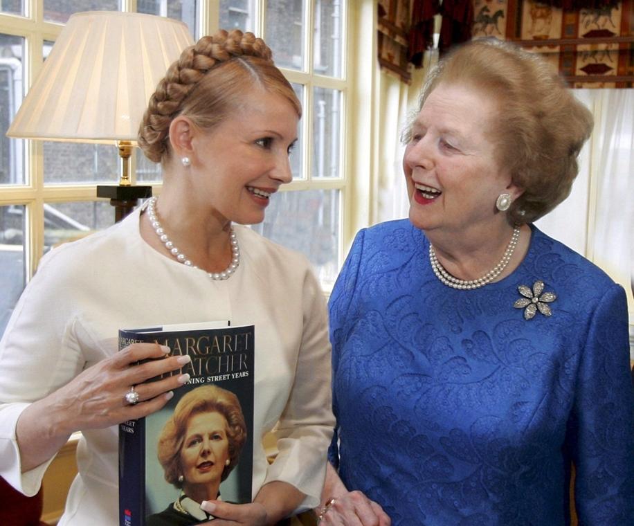 Lonodn, 2007. szeptember  20. - Thatcher találkozása Julija Timosenkoval