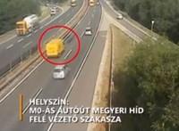 Jogosítványa sem volt a sofőrnek, aki belehajtott a közútkezelő autójába az M0-áson