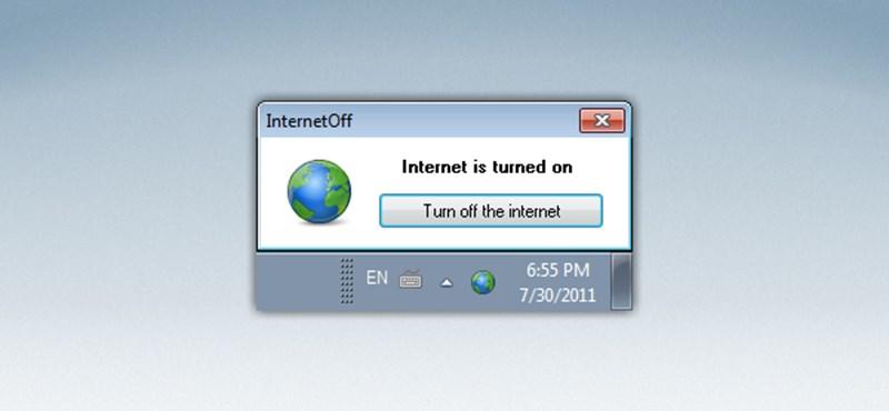 Kapcsolja ki és be minél egyszerűbben gépén az internetelérést!