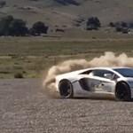 Ilyen az, ha egy Lamborghini rally autónak képzeli magát – videó