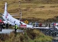 Kicsúszott a leszállópályáról egy repülőgép Alaszkában