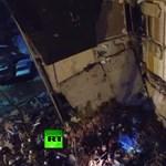 Brutális képek jöttek Oroszországból, ahol 4 embert temetett maga alá egy társasház