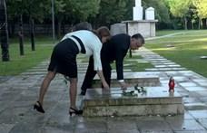 Virágot vitt Nagy Imre sírjára Orbán Viktor
