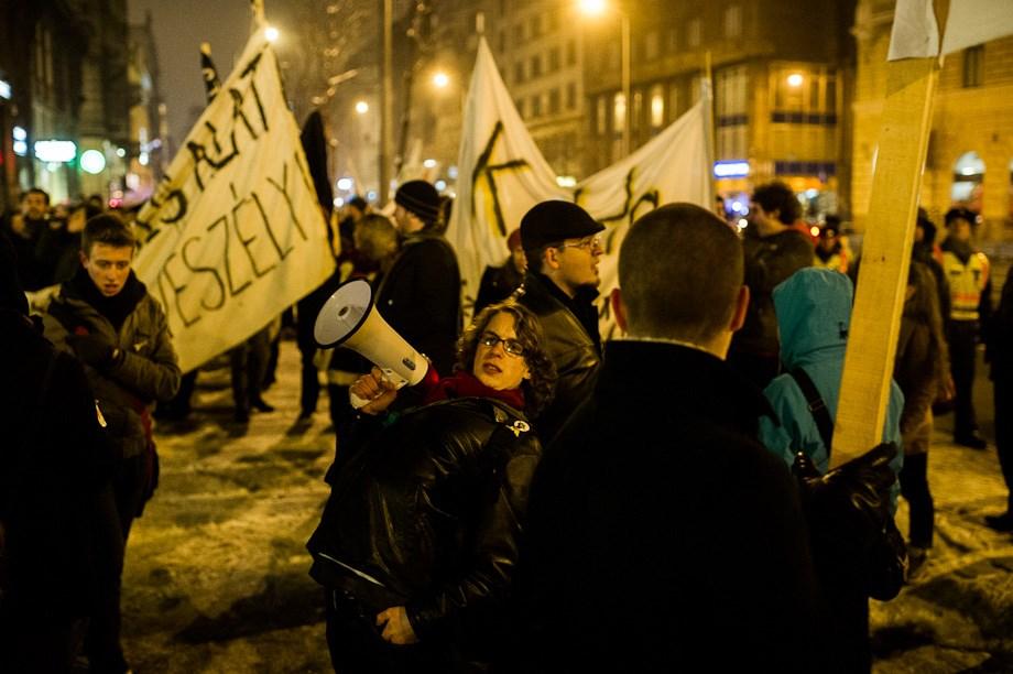 Tüntetések napja Budapesten - Nagyítás-fotógaléria