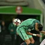 A magyarokat viccesen provokáló képen láthatóak szétvert portugál válogatott focisták