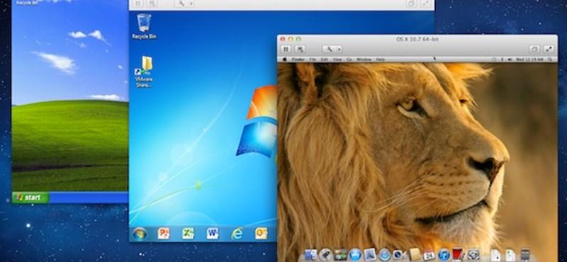Itt a VMware Fusion 4! Letölthető próbaverzióval.