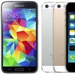 Öt jellemző, amelyekben az iPhone 5s simán lekörözi a Galaxy S5-öt