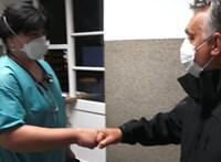 Orbán ezúttal a Szent László Kórházba ugrott be