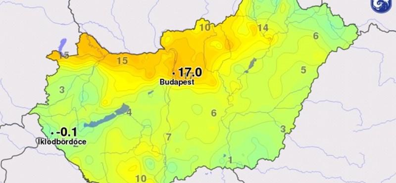 Két melegrekord is megdőlt éjszaka Budapesten