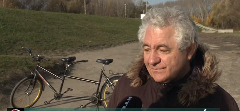 Visszakapta felbecsülhetetlen értékű, ellopott bringáját a látássérült férfi
