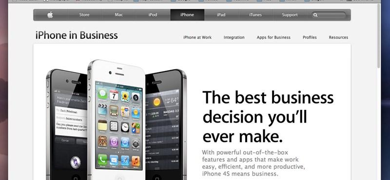 Új Apple oldal az üzleti felhasználóknak: így használhatják ki iOS készüléküket