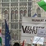 Így lett MSZP-s kampánybuli az éhségmenet - videó