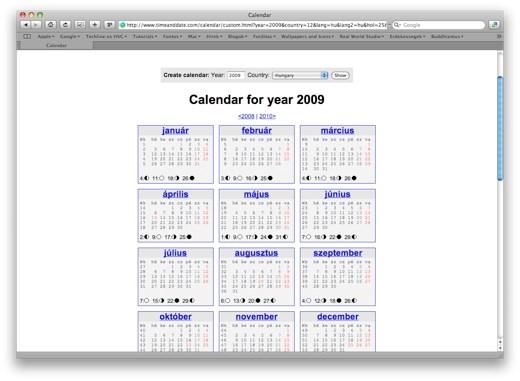 2009 januári naptár Tech: Használjon fel régi naptárakat idén, vagy nyomtasson újat  2009 januári naptár
