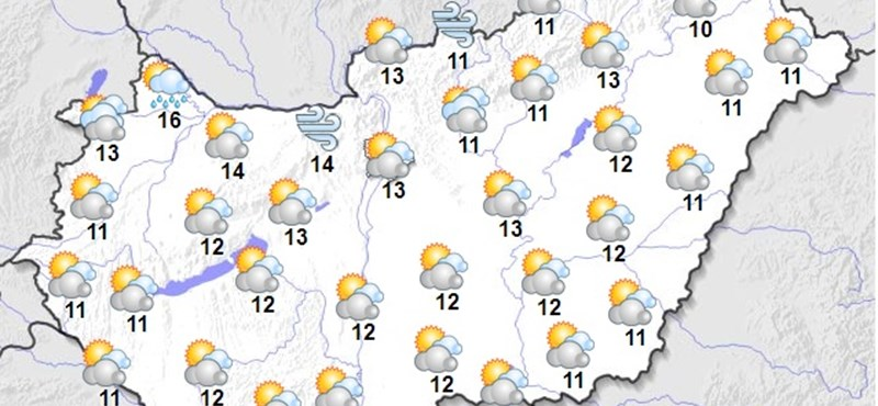 Borús lesz a szerda, de az esernyőt, télikabátot hagyja otthon