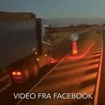 Minden szabályt megszegve előzött a dán kamionos – videó