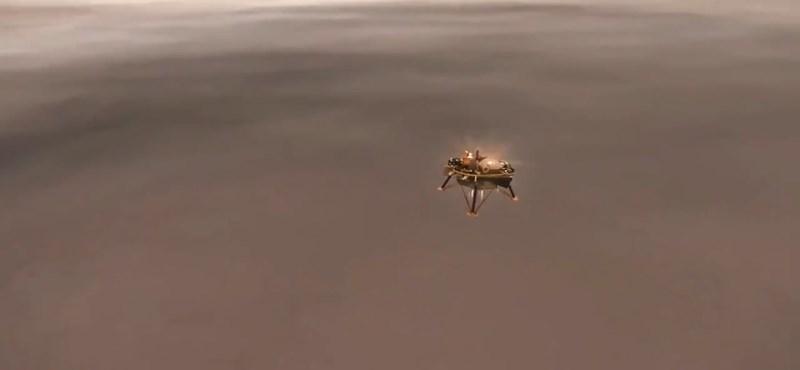 Nézze csak: így landolhatott a Marson az InSight, a NASA robotgeológusa – videó