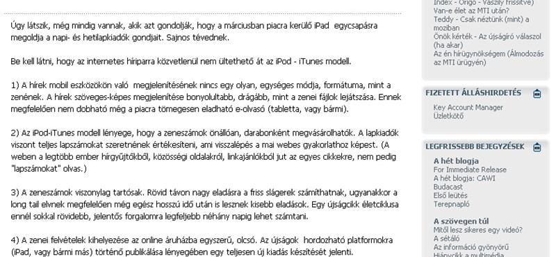 Új szolgáltató a magyar blogpiacon