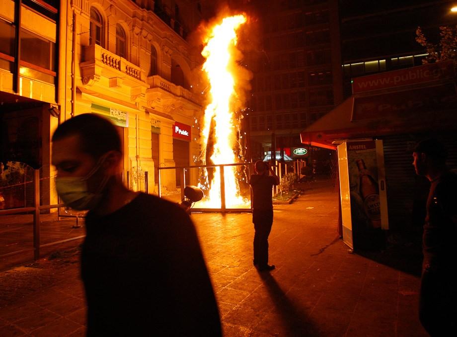Görögországban eldurvultak a tüntetések - Nagyítás-fotógaléria