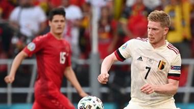 De Bruyne visszatért és büntetett - az Eb egyik legjobb meccsét nyerte meg Belgium Dánia ellen