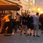 Szétszedték Pozsonyt a futballhuligánok, 94 ember őrizetben
