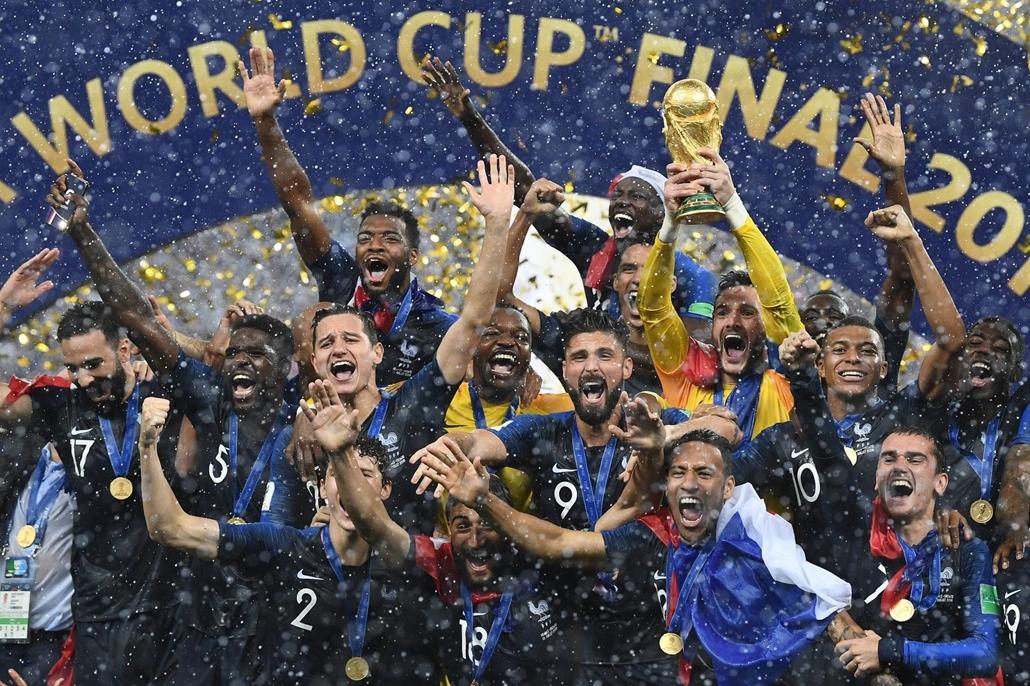 afp.18.07.15. Franciaország-Horvátország világbajnoki döntő