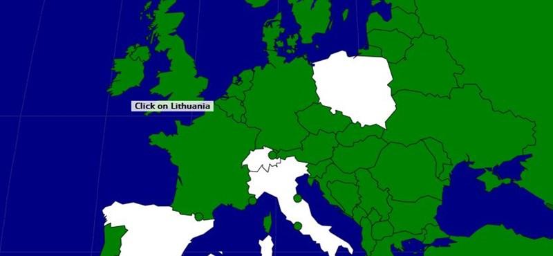 Zseniális villámteszt: hány európai országot ismersz fel?