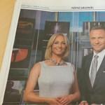 Marsi Anikót egész oldalas hirdetésben reklámozza a TV2 – fotó