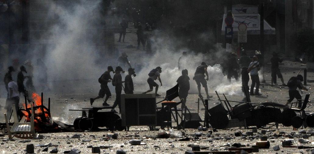 görögország válság tüntetés