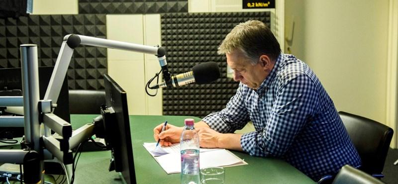 Orbán kampányolt egyet a Kossuth Rádióban