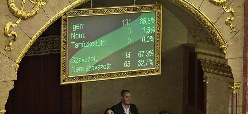 Csak hárman szavaztak nemmel az alkotmánymódosításra