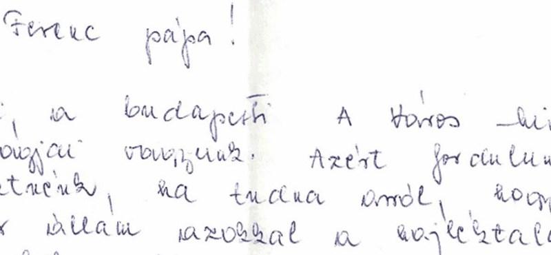 Magyar hajléktalanok írtak levelet a pápának