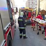 Betonvas szúrta át egy építőmunkás nyakát a Váci úton