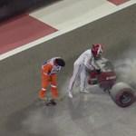 Kigyulladt Räikkönen autója, saját kezűleg oltotta el ? videó