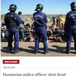 Migránsokkal illusztrálja a kormány a rendőr lelövéséről szóló hírt