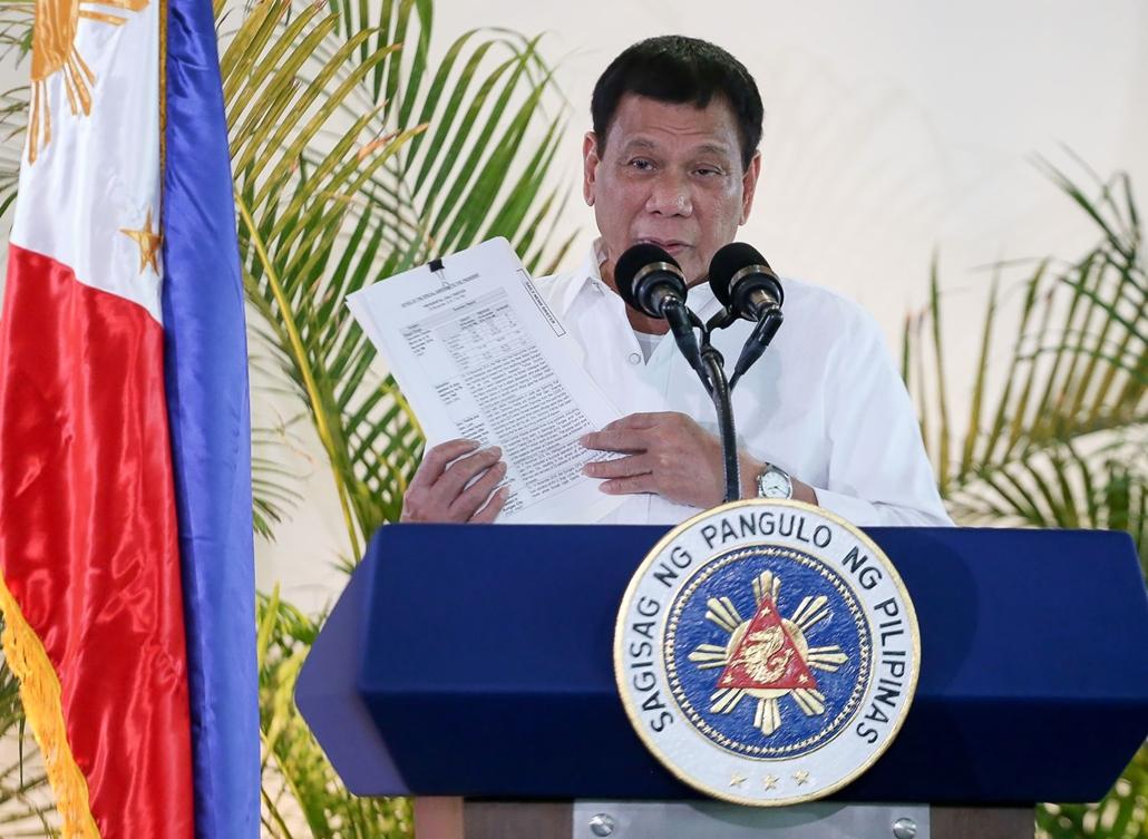 afp.16.11.17. A fülöp-szigetek elnöke,  Rodrigo Duterte