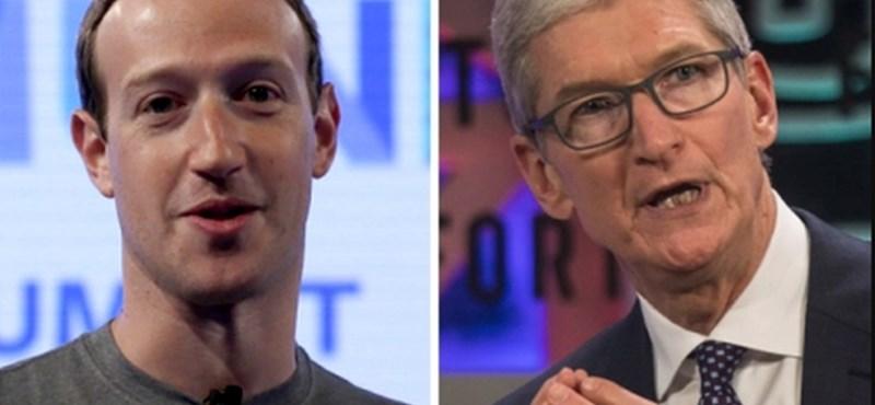 Nem szégyellős: ismét beszólt Tim Cook Mark Zuckerbergnek