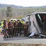 Kiderült, mi okozta a tegnapi buszbalesetet Spanyolországban